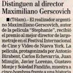Distinción a Maximiliano Gerscovich