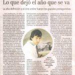 Nota sobre Stephanie en La Nación 2011