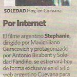 Nota sobre Stephanie en Diario Clarin