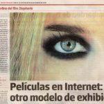 Fragmento de Nota sobre Stephanie en revista Tiempo Argentino